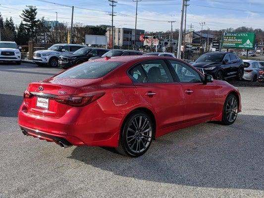 2021 Infiniti Q50 Red Sport 400 In Timonium Md Baltimore Infiniti Q50 Nationwide Infiniti Of Timonium